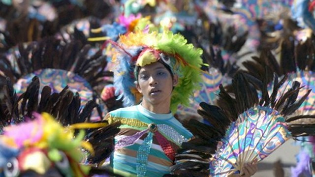 BOOST IN TOURISM. Religious festivals like Sinulog, a dance ritual in honor of the miraculous image of the Santo Niño that brings street dancers and musicians to Cebu City, are big crowd drawers. This file AFP photo was taken in 2007