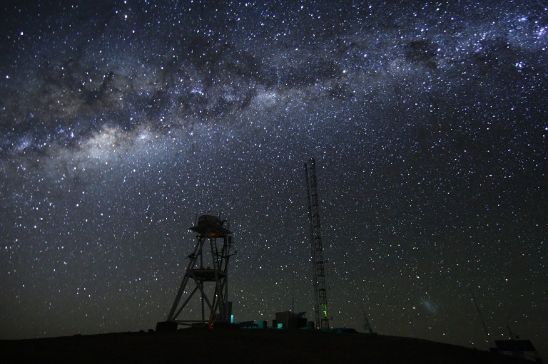 An image at night taken on 26 April 2010 at the ESO Astronomical Site Monitor on Cerro Armazones in the Chilean desert, located near ESO's Paranal Observatory, home of the Very Large Telescope (VLT). AFP PHOTO/ESO