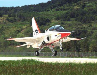 A 2005 file photo of the T-50 jet, the basis of the TA-50 jet which the Philippine Air Force (PAF) plans to order from South Korea. Photo courtesy of Korea Aerospace Industry, Ltd.