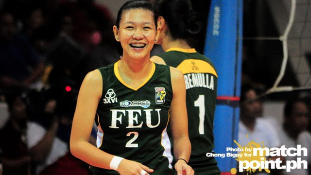 NO RUST. Tabaquero showed little signs of rust when she played for FEU in the Shakey's V-League last year. Photo by Cheng Bigay/MatchPointPH
