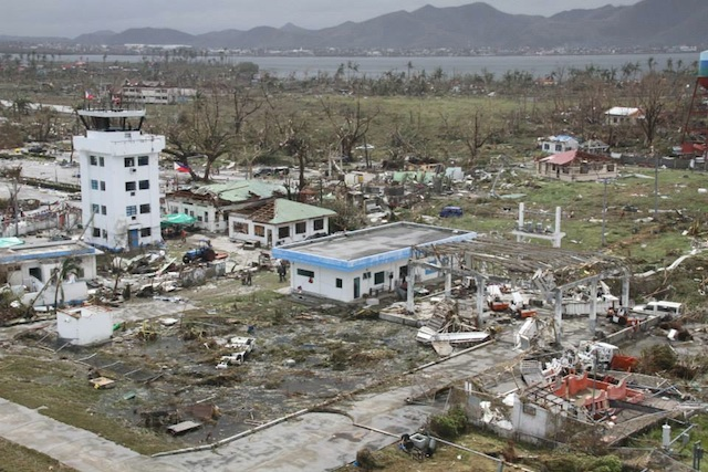 Tacloban City Philippines  city photo : ... Tacloban City airport in ruins. Photo from the Philippine Air Force