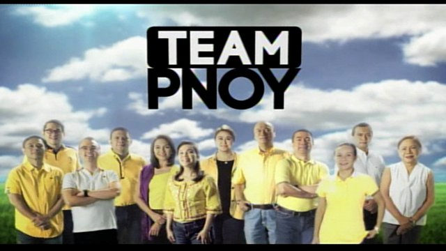 SCREENSHOT of the Team PNoy commercial