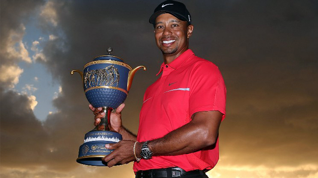 WINNER AGAIN. Tiger Woods won his 76th PGA title after holding off Steve Stricker in the WGC Cadillac Championships. Photo by Warren Little/AFP
