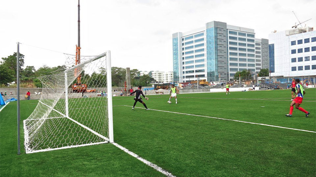 Cebu Queen City United FC was a no-show in what could have been the first UFL match at the Emperador Stadium. Photo from UFL Facebook page.