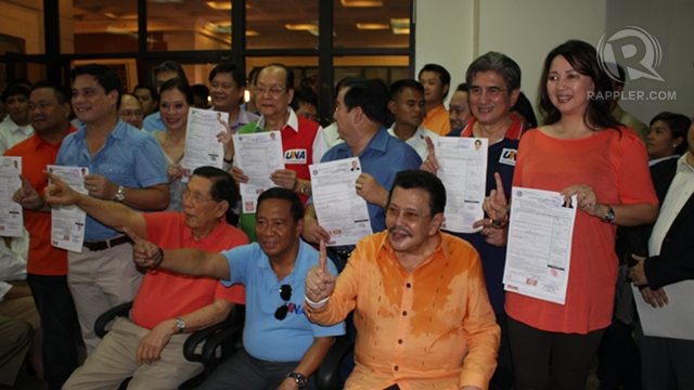 THE UNDERDOG? Enrile says the United Nationalist Alliance is like David challenging the Goliath that is the Liberal Party in 2013. File photo by Don Regachuelo