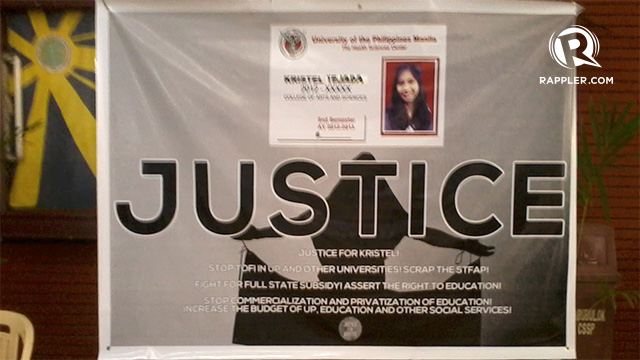 JUSTICE. The Justice for Kristel Alliance held a press conference in Palma Hall in UP Diliman on March 20, Wednesday. Raisa Serafica