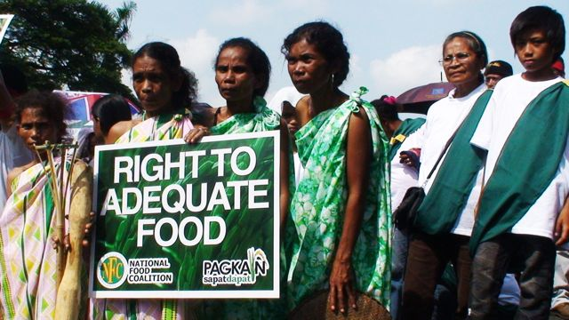 NATIONAL FOOD POLICY. Indigenous women launch campaign to craft legal framework on the right to adequate food. Photo by Project Development Institute