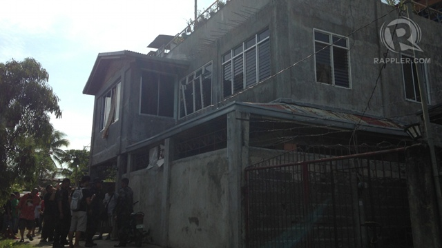 THE BUILDING. The explosion hit a residential area near mall. Photo by Carmela Fonbuena/Rappler