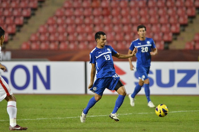 ALL HAIL CHIEFFY. Chieffy Caligdong scored the lone goal of the match in the Azkals' crucial victory over Vietnam. File photo by Anton Sheker.