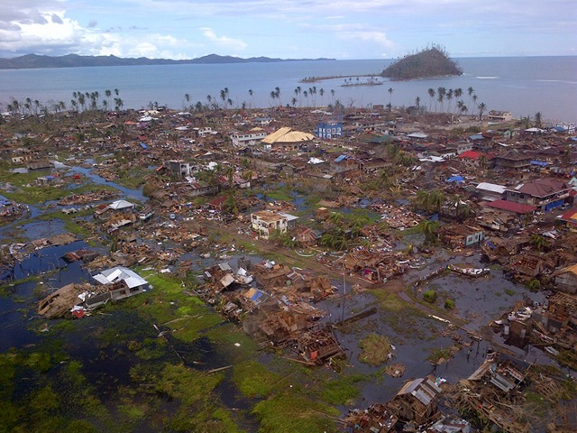 WASHED OUT. An aerial view of Boston, Davao Oriental. Photo by Assistant Secretary Ray Marfil 