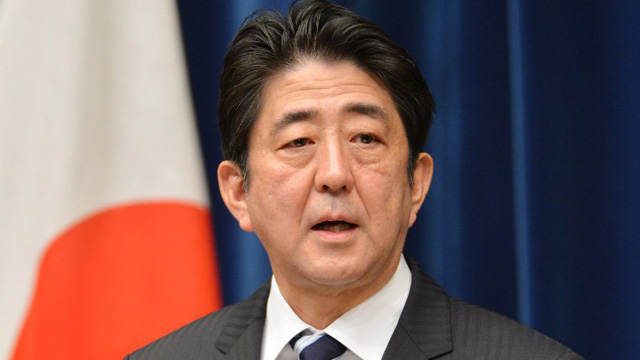 NEW TAKE. Japan Prime Minister Shinzo Abe says he will issue a new statement on World War II. File photo from AFP