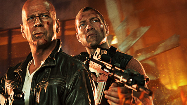 FATHER-SON BONDING. Bruce Willis as John McClane and Jai Courtney as Jack McClane in 'A Good Day to Die Hard.' Image from the 'A Good Day to Die Hard' Ireland Facebook page