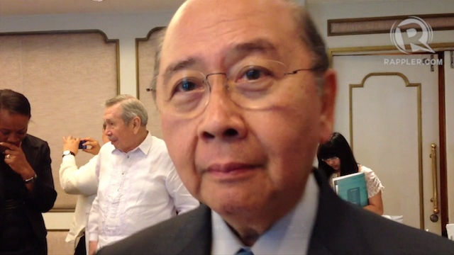 FORMER DFA CHIEF. Roberto Romulo was Foreign Secretary from 1992 to 1995. Screenshot from video by Katherine Visconti