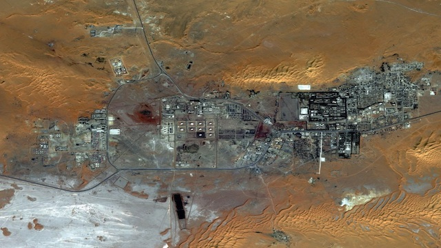 HOSTAGE. Satellite image provided by DigitalGlobe from October 8, 2012 shows Amenas, Algeria. Islamist militants held dozens of foreign hostages and hundreds of Algerian workers hostage in a gas field located approximately 45 km from the city. AFP Photo/Digitalglobe