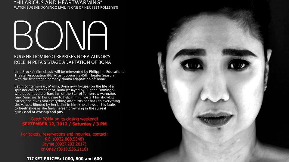 THEATER QUEEN. Eugene Domingo is Best Actress in a Non-Musical Production. Image from the Eugene Domingo Facebook page