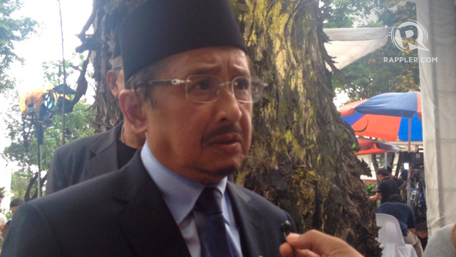 SUPPPORT. New MNLF chairman Abul Khayr Alonto says his group supports the peace agreement with the MILF. Photo by Rappler