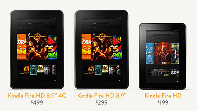 NOW SHIPPING. Amazon released the larger version of the Kindle Fire HD earlier than expected. Screen grab from amazon.com