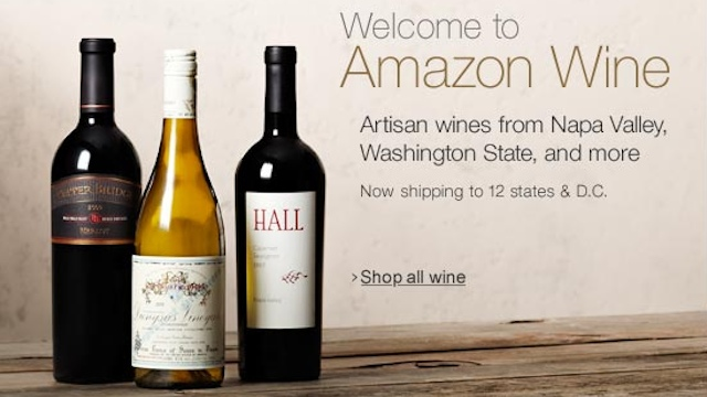 WINE ONLINE. Screen grab from www.amazon.com