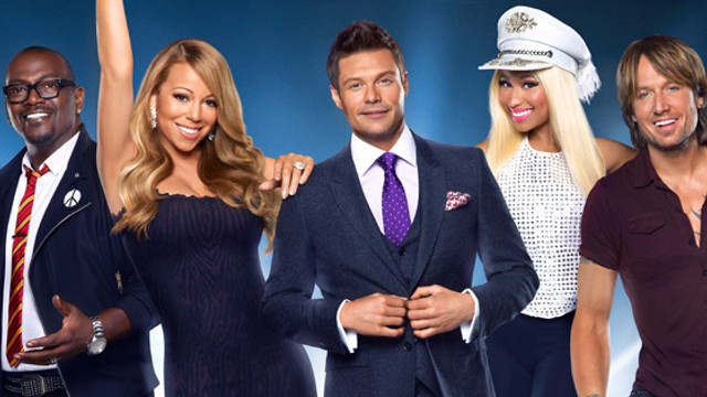 IDOL-MAKERS. (From left) Randy Jackson, Mariah Carey, host Ryan Seacrest, Nicki Minaj, and Keith Urban. All photos from the 'American Idol' Facebook page