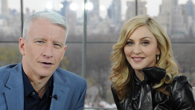 PRO GAY RIGHTS. Madonna presents Anderson Cooper with the Vito Russo Award at the 24th Annual GLAAD Awards. Photo from the 'Madonna' Facebook fan page
