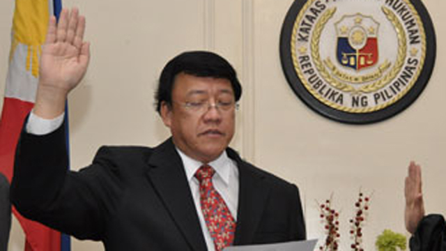 DARK HORSE. Could Reyes be appointed to the SC? Photo source: www.sc.judiciary.gov.ph