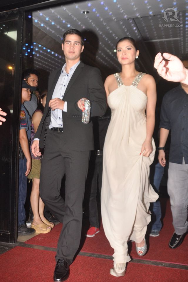 Angel Locsin (right) in Roberto Cavalli with Phil Younghusband