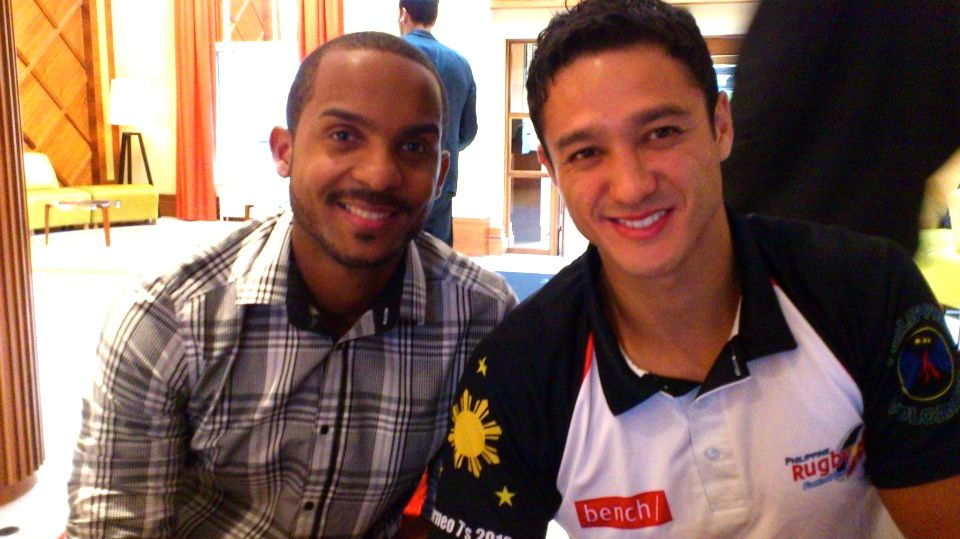 With Mister Martinique. Image from the Mr World - Philippines Facebook page