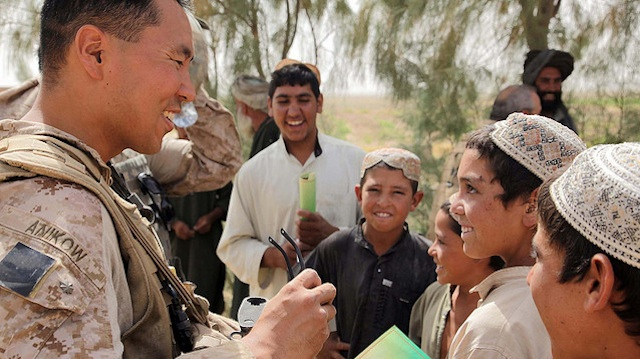 MILITARY MAN. Anikow served in Afghanistan helping develop relationships between the US military and the local population. Photo courtesy of US Marine Cops official Flickr account