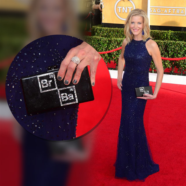 Anna Gunn's awesome clutch