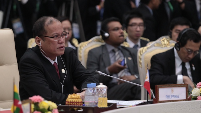 CENTRALITY. President Benigno Aquino III attends the 21st ASEAN Summit in Phnom Penh, Cambodia on November 18. Photo by Gil Nartea / Malacañang Photo Bureau