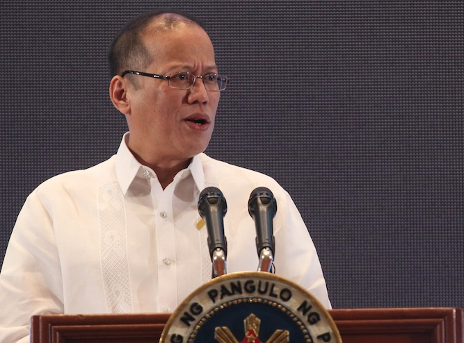 President Benigno S. Aquino III addresses the 2013 Philippines Development Forum (PDF) at the Grand Ballroom, Marco Polo Hotel in Davao City, February 5, 2013. Ryan Lim / Malacañang Photo Bureau