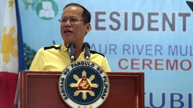 SABAH, NOT NOW. President Benigno Aquino III answers questions during a media briefing in Iloilo on Wednesday, February 21, 2013 Photo by Robert Viñas / Malacañang Photo Bureau