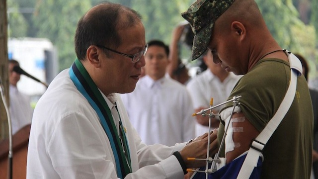 WOUNDED PERSONNEL MEDAL: Marine Pfc Eduardo A. Jose. Photo from the Armed Forces of the Philippines