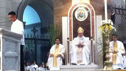 Archbishop Tagle during his installment at Manila Cathedral