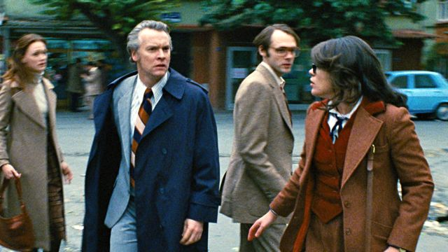 I RAN IN IRAN. Kerry Bishé, Tate Donovan, Clea DuVall and Christopher Denham (from left) are a band on the run