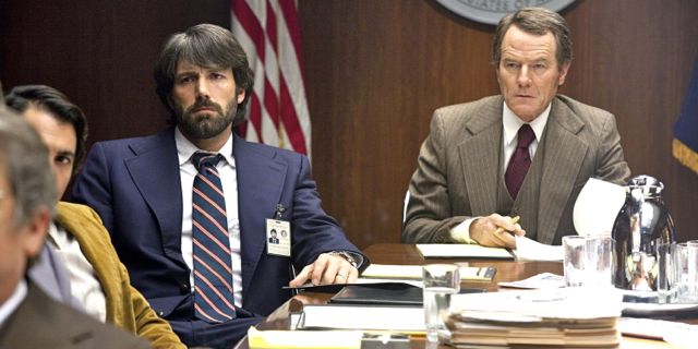 MEN OF INTELLIGENCE. Ben Affleck and Bryan Cranston act as CIA brains