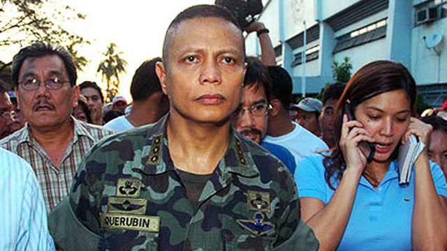 REBEL. Former Marine Col Ariel Querubin in the February 2006 standoff.