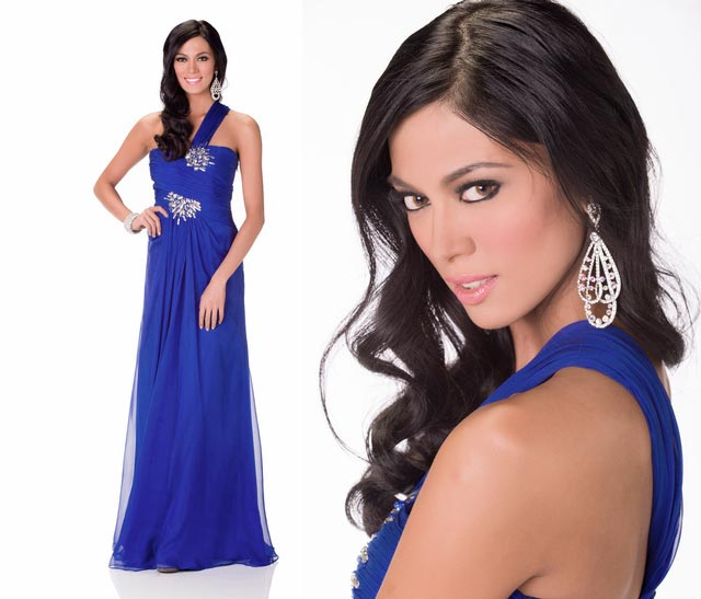 OFFICIAL EVENING GOWN PHOTO AND HEAD SHOT. Photos courtesy of the Miss Universe Organization LP, LLLP