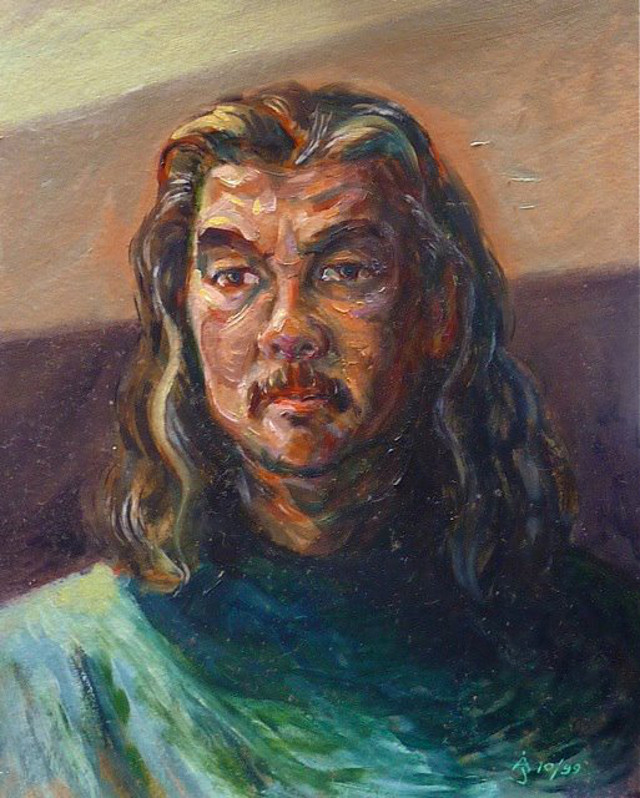 THE ARTIST-HEALER. John Altomonte's self-portrait. Photo courtesy of Sylvia L. Mayuga