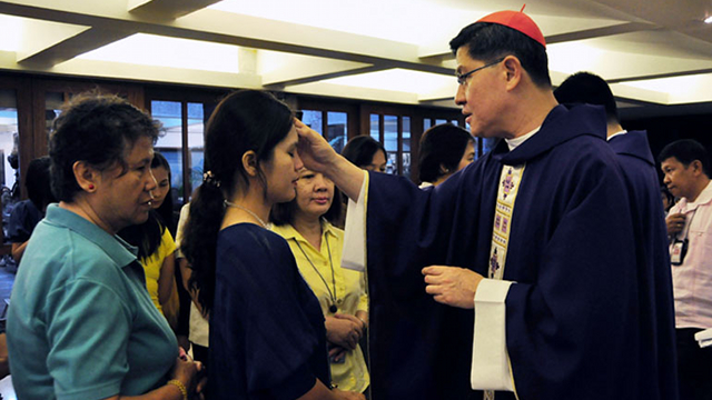 ASH WEDNESDAY. Manila Archbishop Luis Antonio Cardinal Tagle reminds Catholics about the value of fasting. Photo courtesy of Noli Yamsuan/Roman Catholic Archdiocese of Manila