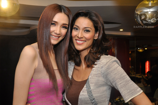 Joey with Stephanie Retuya, the Philippine representative in Asia's Next Top Model