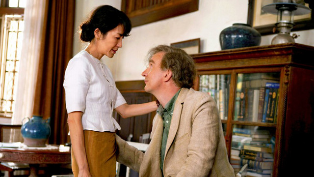 'THE LADY.' Michelle Yeoh plays Aung San Suu Kyi while David Thewlis plays Suu Kyi's husband Michael Aris