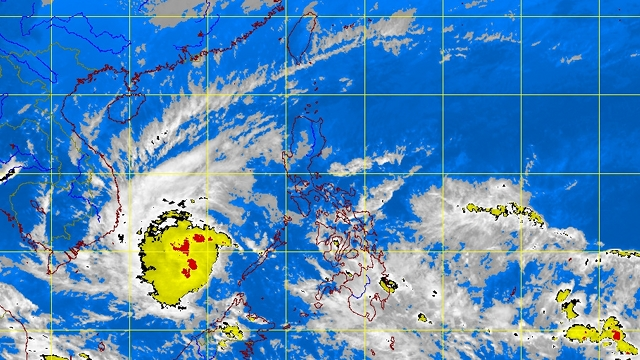 OUT OF PH. PAGASA satellite image as of 4pm shows that the storm is already outside the Philippine Area of Responsibility