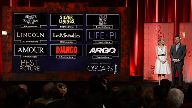 Academy Awards nominations photo from AFP