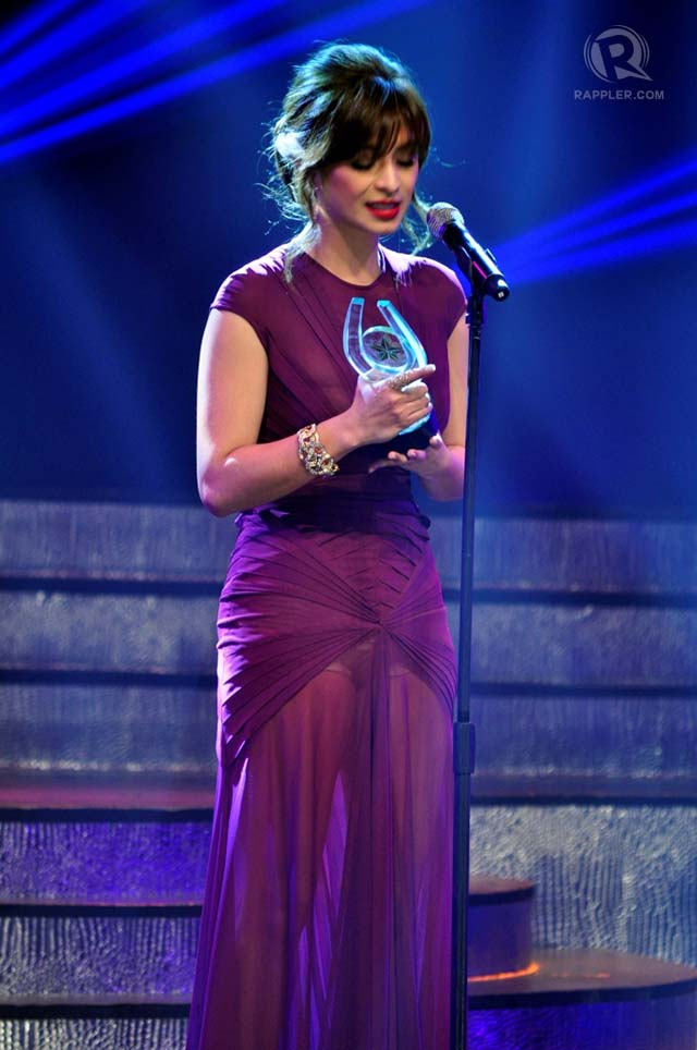 BEAUTIFUL AND GRATEFUL. Angel Locsin won the coveted Best Actress award for 'One More Try.' All photos by Erickson dela Cruz