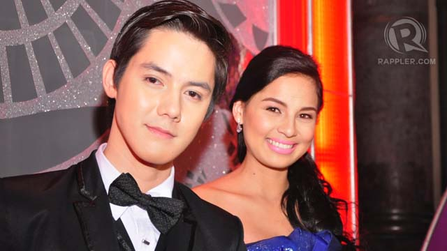 Jasmine Curtis Smith (right) with her escort