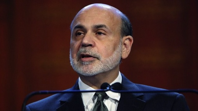 Federal Reserve Chairman Ben Bernanke speaks at the Economic Club of New York. He urges Congress to act to avoid the so-called &quot;fiscal cliff&quot; of severe budget cuts and tax hikes in 2013. John Moore/Getty Images/AFP 