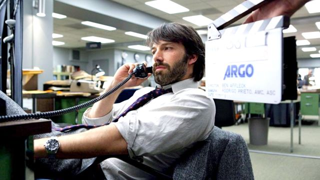 BEN AFFLECK AS TONY Mendez on the set of 'Argo.' Image from the movie's Facebook page