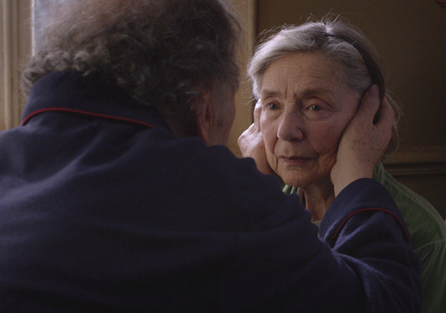 WELL-LOVED. Michael Haneke's 'Amour' -- starring Best Actress nominee Emmanuelle Riva (seen here with Jean-Louis Trintignant) -- should bring home at least one Oscar. Photo from the movie's Facebook page