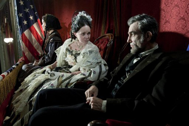 CANDIDATES BOTH. Sally Field and Daniel Day-Lewis in 'Lincoln.' Photo from 20th Century Fox